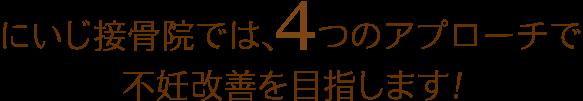 遠藤はり院では、5つのアプローチで不妊改善を目指します!